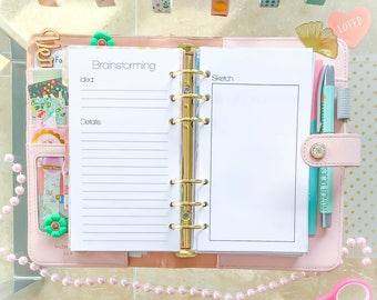 Personal Planner Inserts Brainstorming 3.7 x 6.7 Filofax Inserts Printable Ideas Decision Maker, Free Writing Refills Instant Download.