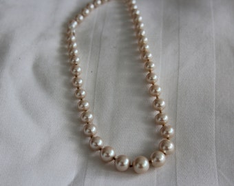 Pink Pearls Hand Knotted Necklace