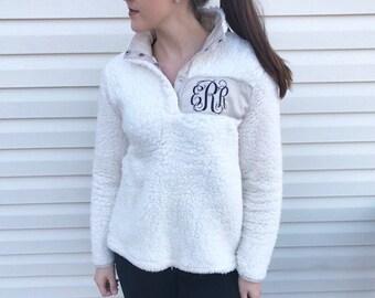 Sherpa Pullover / Monogram Sherpa Pullover / Sherpa Sweatshirt / Monogram Pullover / Bridesmaid Gift