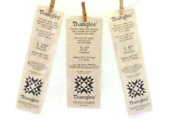 Quilting Templates For Cutting Half Square Triangles | Thangles Templates | Three Sizes Three Packages Thangles Templates