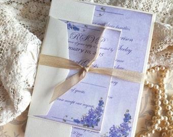 Vintage Romantic Elegant Wedding Invitation SAMPLE Handmade by avintageobsession on etsy