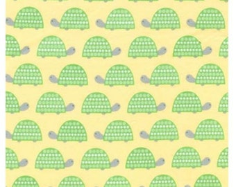 FLANNEL - Turtles on Yellow From Robert Kaufman's The Wild Bunch Flannel Collection from Pink Light Designs