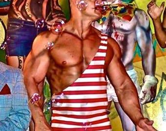 Strongman XS ready to ship Costume Single Shoulder Men's Wrestling Singlet