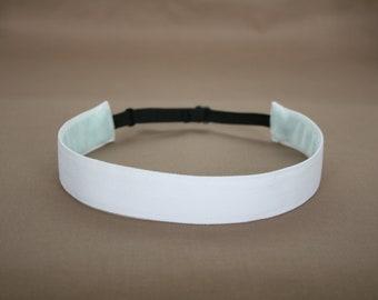 Snowy White Non-Slip Adjustable Headband
