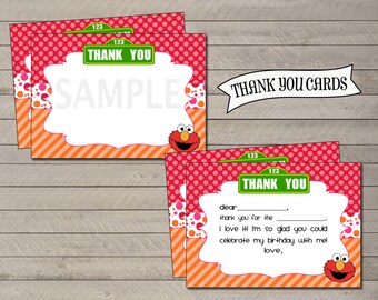 Elmo Inspired Thank You Notes