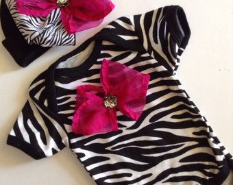 Baby Girl Take Home Hospital Outfit, Newborn Baby Girl Coming Home Outfit, Baby GIrl Zebra Smash Cake Outfit, Zebra shower gift outfit