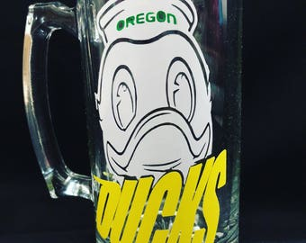 Oregon ducks  beer mug