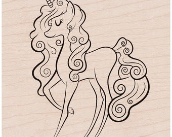 Hero Arts Mounted Rubber Stamp - Unicorn