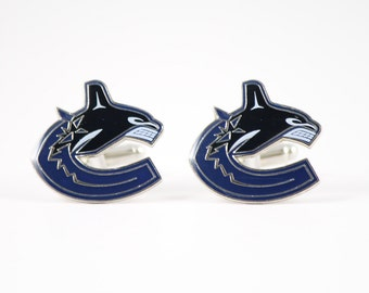 Vancouver Canucks Cuff Links -- FREE SHIPPING with USPS First Class Domestic Mail