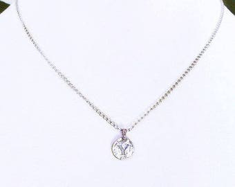 Unique necklaces for women personalized with S, sterling silver personalized letter s pendant necklace gift for women, S letter charm choker