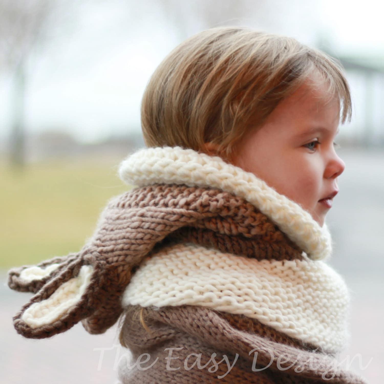 Knitting pattern, Knit Hat, Patron tricot – Riley Rabbit Bunny Knit ...