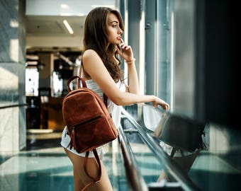 Women's backpack «Limbo»/ City backpack, Leather backpack, Women leather backpack, Laptop backpack, Travel backpack, Womens leather backpack