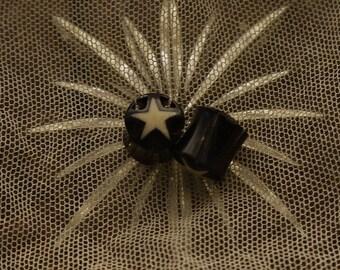 """Bali Handmade Star 13/32"""" Gauge Plug Earrings"""