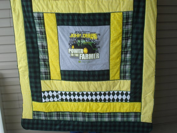 Warm And Comfy John Deere Quilted Flannel Blanket