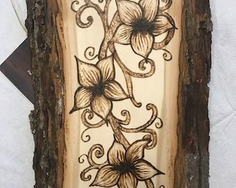 Floral Woodburning