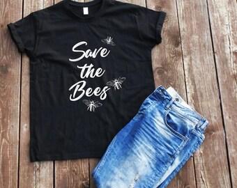 Save the bees T-shirt vegan quotes t-shirt bees t-shirt swag t-shirt vegan sayings t-shirt tumblr t-shirt save bee tee veganism t-shirt