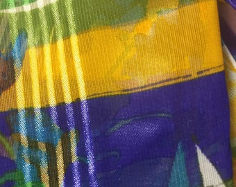 70's Vintage Liz Claiborne Silk Scarf