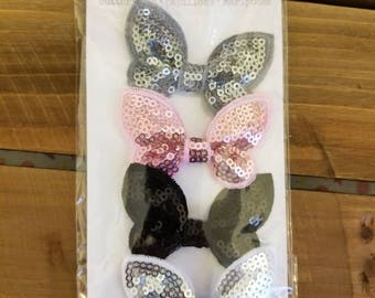 Pink Paislee Butterfly Bows