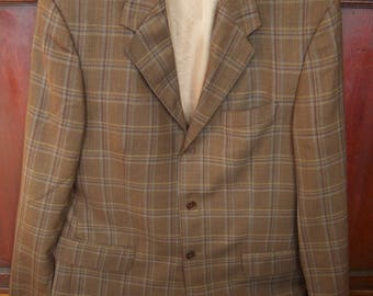 Vintage Natazzi Plaid 3 Button Sport Coat