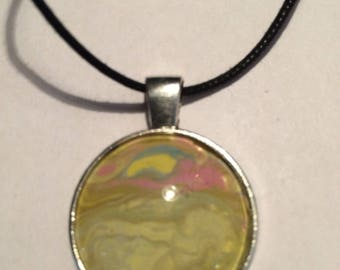 Abstract sunset necklace