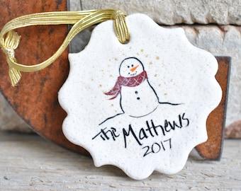 Personalized Family Christmas Salt Dough Ornament