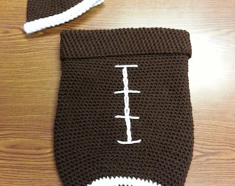 Football Cocoon with Beanie
