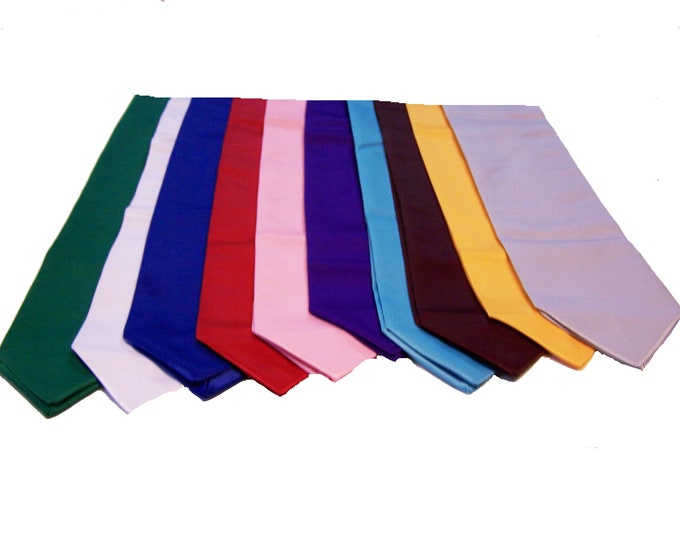 Group Discounted Graduation Stole - Custom Embroidery on ONE SIDE ONLY- Stoles Sorority, Fraternity, Club, Team Stoles, Discounted Price