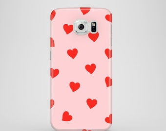 Red Hearts phone case / iPhone X / hearts iPhone 8 / pink iPhone 7 case / iPhone 7 Plus, iPhone 6/6S, 5/5S iPhone and Samsung Galaxy S cases