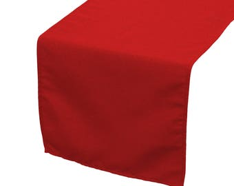 YCC Linen - 14 x 108 inch Polyester Table Runner Red