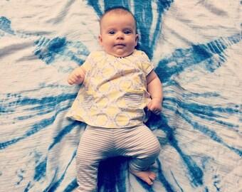 Kumo Shibori extra large Baby Swaddle/Muslin Cloth Free postage WORLDWIDE...