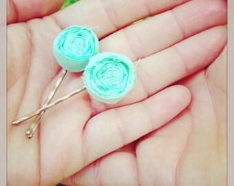 Mini Rosette Bobby Pins
