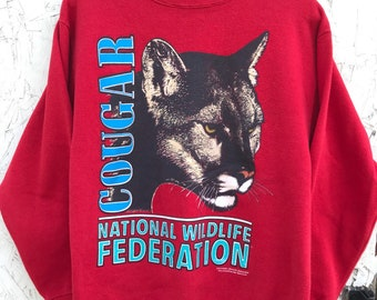 1980s National Wildlife Federation Pullover Sweatshirt Size Medium