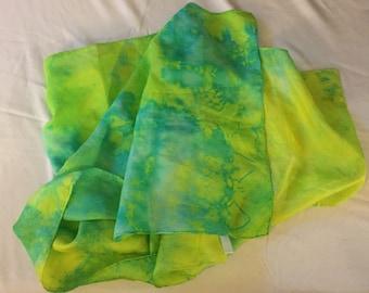Tie Dye Silk Scarf LARGE Sale