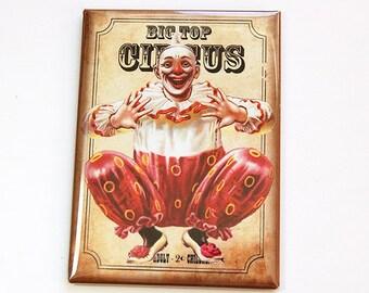 Fridge magnet, Kitchen magnet, Circus Clown, Clown magnet, Circus magnet, Magnet, ACEO, stocking stuffer, Clown (4549)