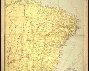 Brazil Map EXTRA LARGE Rio De Janeiro Vicinity Map Wall Art