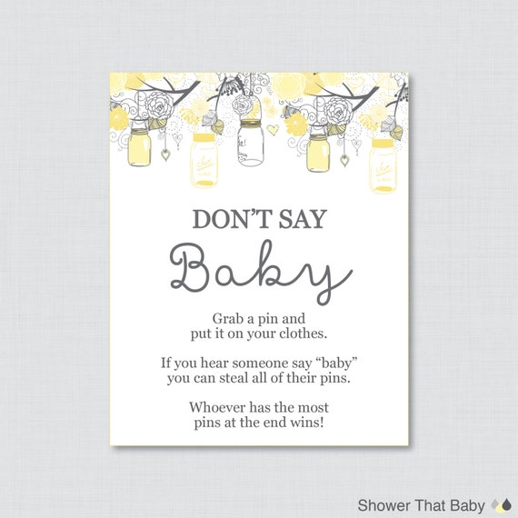 Geeky image intended for don't say baby printable