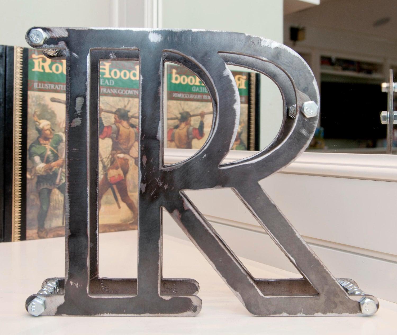 Large Metal Letter R 3D Metal Letters Large 8X10 Metal R Letter