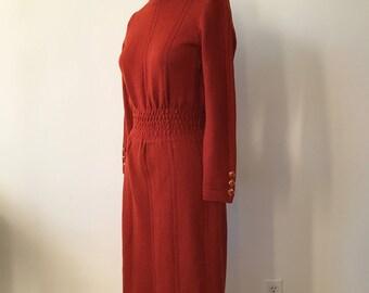 Vintage 1970s Midi Sweater Dress / XS / small