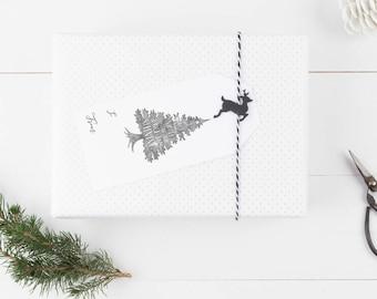 Printable Christmas Gift Tags, Digital Christmas Gift Tags, Christmas Wrapping Accessories, Rustic Christmas Tags, Holiday Gift Tags