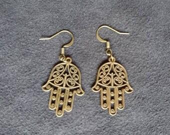 Earrings Hand of Fatima