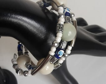 Beaded Coil Bangle