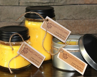 MONKEY FARTS Maple Creek Candles ~ Fruity Tropical Fragrance ~ Soy Wax Blend, 3 sizes, Fun Rustic Lid