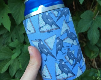 Magpies and Fairybread Stubby Holder