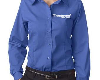 8355L UltraClub Ladies' Easy-Care Broadcloth Great Expressions Dental Logo Included