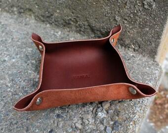 Leather Tray | Vermillion Tray | Leather Organizer