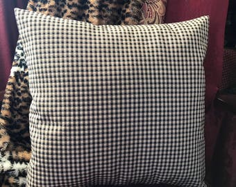 Black Checked Pillow Cover