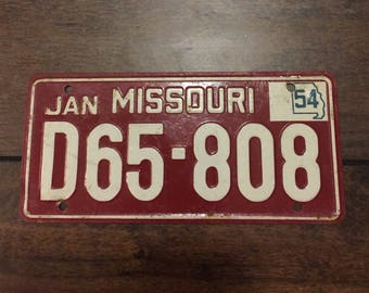1954 Wheaties Cereal Collectable Mini Bicycle Metal - Missouri - License Plate.