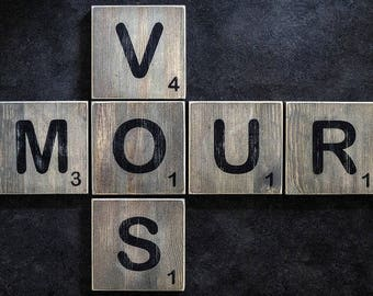 """How """"Scrabble game"""" wooden letters"""