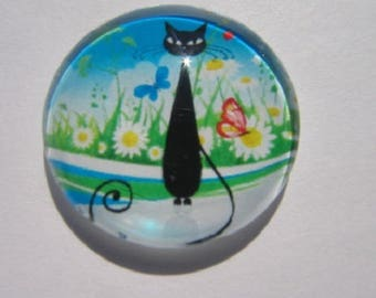 sitting cat cabochon, 20mm