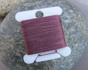 Rum Raisin Jewelry String 288 Inches 18 Bead Thread Size .5 Strong Nylon Cording Purple Burgundy Deep Red Cord & More 70 Colors Available